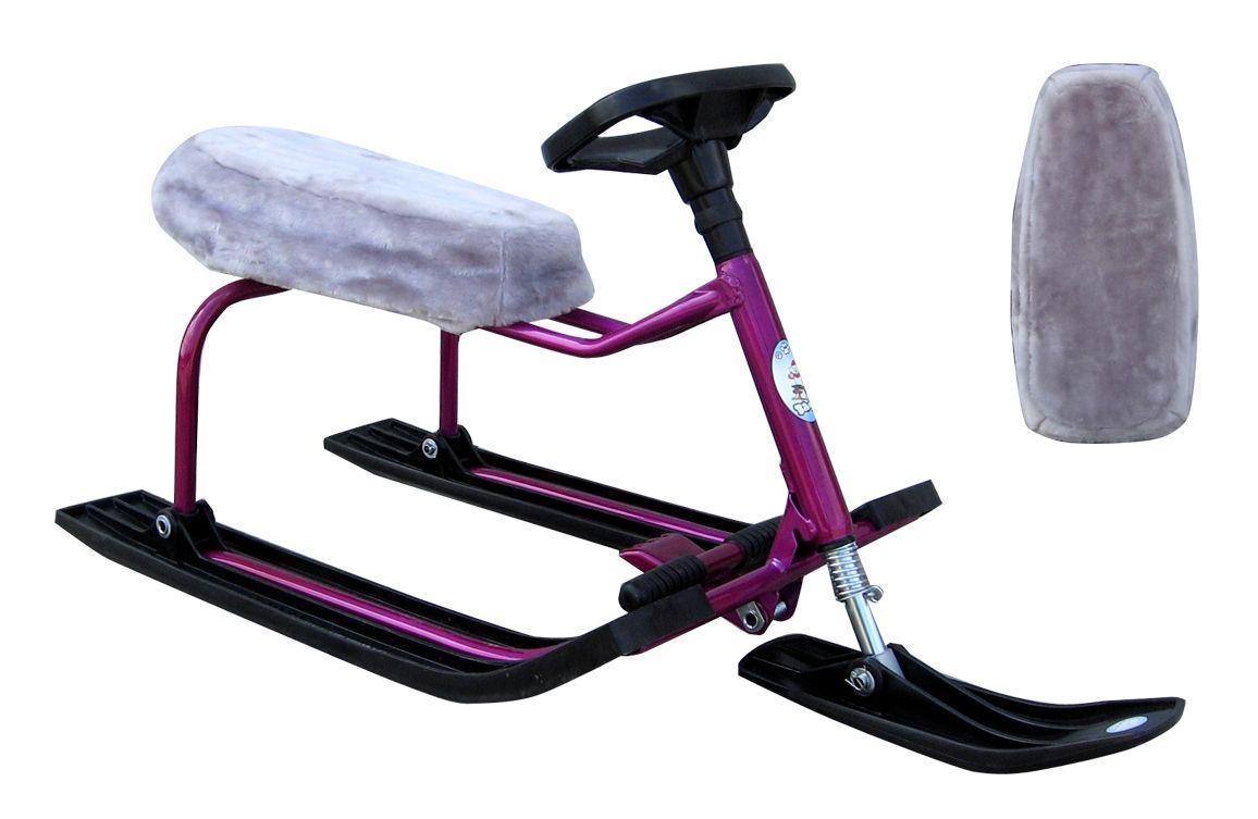 Меховой чехол на сиденье снегоката